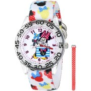 "ディズニー 腕時計 キッズ 時計 子供用 ミニー Disney Kids' W001179 ""Minnie Mouse"" Watch with Interchangeable Nylon Bands"
