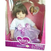 アドラ ベビードール 赤ちゃん 人形 着せ替え Adora Doll Handmade w/love - Dark Brown Hair-Brown Eyes - Purple and White...