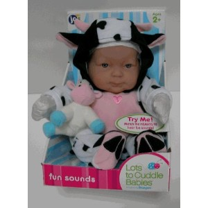 JC Toys 赤ちゃん 新生児 人形 フィギュア ドール Lots To Cuddle Babies - Fun Sounds-Cow