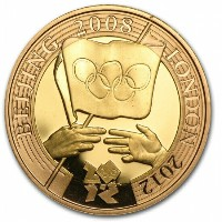 Great Britain 2008 Gold 2 Pounds Olympic Handover クリアーケース付き
