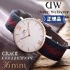 �ڥݥ����10�ܡ� DANIEL WELLINGTON ���˥��륦�����ȥ� GRACE COLLECTION ���졼�����쥯����� 0551DW 0552DW 0553DW 0554DW 36mm...