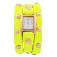 ラメールコレクション 時計 レディース 腕時計 La Mer Collections Neon Yellow Pyramid Wrap Watch - Neon Yellow