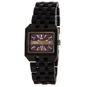 テンス 時計 腕時計 木製 Tense Discovery Comox Rectangular Dark Sandalwood Wood Watch B5100D Violet