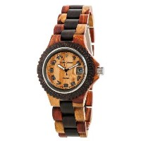 テンス 時計 腕時計 木製 Tense Wood Watch Inlaid Color Date Time G4100ID Arabic ANLF