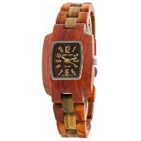 テンス 時計 腕時計 木製 Tense Solid Sandalwood Green Wood Timber Small Wrist Watch M8102SG-G