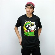 ◎SUBLIME(サブライム) Tシャツ CARTOON DOG WITH JOINT 黒