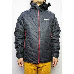 """""""Buffalo Systems"""" (バッファローシステムズ)BELAY JACKET with HOOD LIMITED EDITION (COLOR : BLACK / RED)..."""