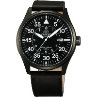 オリエント 時計 メンズ 腕時計 Orient #FER2A001B Men's Flight Collection Leather Band Pilot Automatic Watch