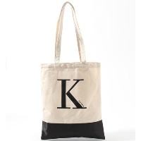Initial canvas tote【ボン・フェット/Bonnes Fetes トートバッグ】