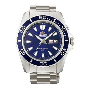 オリエント 時計 メンズ 腕時計 Orient #FEM75002D Men's Mako XL Stainless Steel Blue Dial Automatic Dive Watch