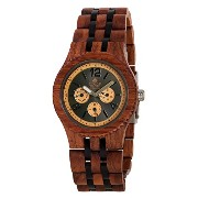 テンス 時計 腕時計 木製 Tense Adventure Vernon Triple Dial Multifunction Two-Tone Jumbo Wood Watch J5203RD DL