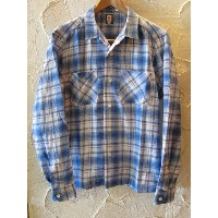 【SALE 35%OFF】★送料無料★ BELAFONTE/CHECK OPEN SHIRTS BLUE