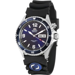 "オリエント 時計 メンズ 腕時計 Orient #FEM65005D Men's ""Blue Mako"" 200M Automatic Diver Watch with Rubber Strap"