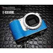 【LIM'S社認定 正規輸入品】LIM'S Design Leather Camera Half Case for SONY α5000 (Blue)