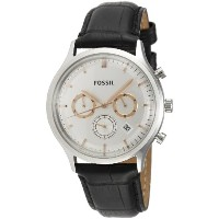 Fossil フォッシル メンズ腕時計 Heritage Mens Leather Watch - Black FS4640
