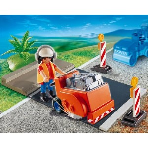 プレイモービル 4044 ロードローラー Playmobil Asphalt Cutter Construction Set