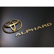 "20系 ALPHARD ""GOLD CHROME EDITION""EMBLEM エンブレムセット(2PCS)"