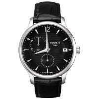 ティソ 腕時計 時計 TISSOT Tradition GMT Black Leather T0636391605700