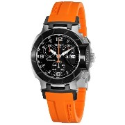 ティソ 腕時計 レディース 時計 Tissot T-Race Chronograph Orange Ladies Watch T0482172705700