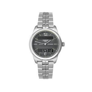 ティソ 腕時計 レディース 時計 Tissot Women's T34.7.187.62 PR50 Stainless-Steel Black Dial Watch
