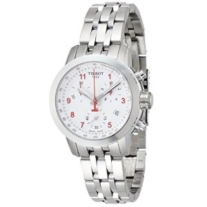 ティソ 腕時計 レディース 時計 Tissot PRC 200 Chronograph Silver Dial Stainless Steel Ladies Watch T0552171103200