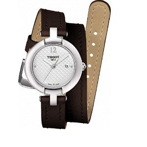 ティソ 腕時計 レディース 時計 Tissot Trend Silver Dial Brown Leather Ladies Watch T0842101601703