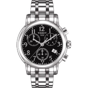 ティソ 腕時計 レディース 時計 Tissot T Classic Chronograph Black Dial Stainless Steel Ladies Watch T0502171105200