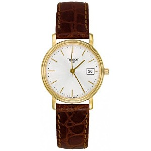 ティソ 腕時計 レディース 時計 Tissot Desire Brown Leather Silver Dial Women's Watch #T52.5.111.31