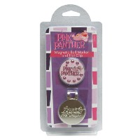 Winning Edge Pink Panther Magnetic Hat Clip Ball Markers【ゴルフ その他のアクセサリー>ディボットツール】