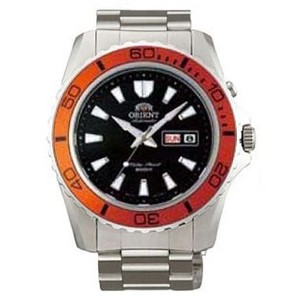 オリエント 時計 腕時計 Orient Automatic Dive Watch CEM75004B (Orange Bezel Mako II)