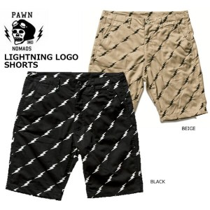 【SALE】PAWN(パウン)/LIGHTNING LOGO SHORTS/ ショートパンツ