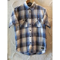 【SALE 30%OFF】COREFIGHTERコアファイター/SHORT SLEEVE SHIRTS CHECK BLUE