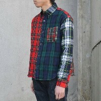 Sanca(サンカ)/ CRAZY TARTAN BIG B.D. SHIRT -CRAZY-