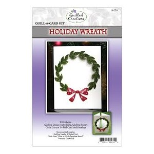 Quilled Creations クイリングキット Quill-A-Card Holiday Wreath