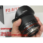SAMYANG 12mm F2.8 ED AS NCS FISH-EYE Full size ニコンマウントCPU『2017年3月入荷予定』フルサイズセンサー対応の魚眼レンズ!湾曲世界が撮れるフィッシ...