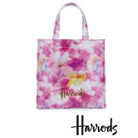 【Harrods 】Small Photographic Floral Shopper Bag ハロッズ トート ショッピングバッグ フローラル
