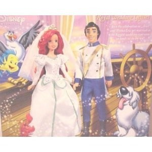 Mattel Disney ディズニー Princess Ariel Mermaid ROYAL WEDDING