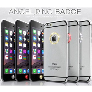【DREAM PLUS 正規品 ANGEL RING ラインストーン リング ステッカー ホームボタンシール セット】iPhone7/iPhone6S/iPhone6/iPhone6 PLUS...