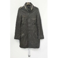 【新品】 two./two dot (トゥードット) M-65 type Leather Coat レザーコート M BLACK