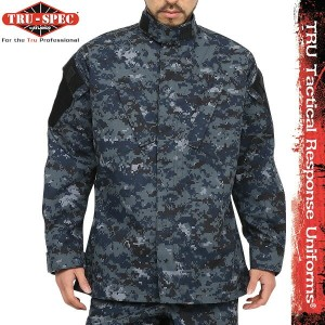 サバゲー 服 TRU-SPEC トゥルースペック 米軍 Tactical Response Uniform ジャケット NAVY Digital Camo (Midnight Digital) ...
