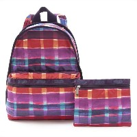 LeSportsac レスポートサック 7812-D533 Basic Backpack(ベーシックバックパック)Painted Plaidリュックサック(バックパック)