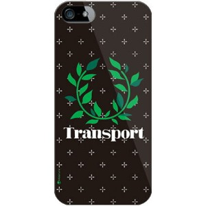 【送料無料】 Transport Laurel クロスドット ブラック (クリア) / for iPhone SE/5s/SoftBank 【SECOND SKIN】iPhone5sカバー...