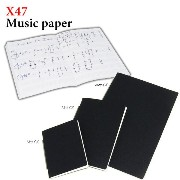X47 A6Timer Note Music paper A6タイマー専用リフィールブックレット ノート 五線譜 (リフィル/替え紙/替紙)
