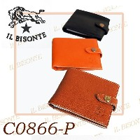 IL BISONTE【イルビゾンテ】二つ折り財布 LEATHER WALLET レザー 本革 カードケース 小銭入れ 【イタリア本国 正規品...