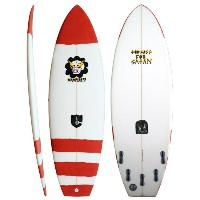 """VAMPIRATE TOO FAST FOR SATAN RED 5'7"""" XF 5F エポキシ サーフボード サーフィン サーフボード 小波用THE SURFBOARD AGENCY"""