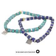 on the sunny side of the street310-261 /Cubu Beads Bracelet w/square charm 真鍮/Brass Brace/ブレスレットアンティ...