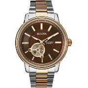 送料無料 Bulova ブローバ Mens Two-tone Analog Stainless Watch Model# 98A140 メンズ 腕時計