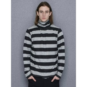 【SALE/40%OFF】NUMBER (N)INE *Border Turtle Neck Wool ナンバーナイン カットソー【RBA_S】【RBA_E】【送料無料】