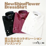 New Shine FlowerDress Shirt/花柄ドレスシャツ