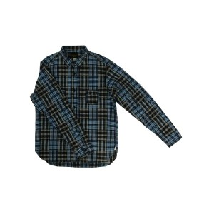 【SALE】SUNNY SPORTS サニースポーツ Check Workers Shirts Wポケット仕様 Navy Made in Japan【あす楽対応】